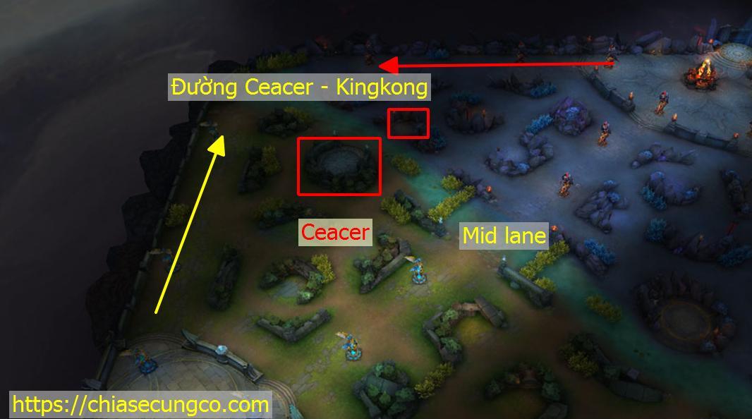 Đường Caesar - Kingkong là đường nào?