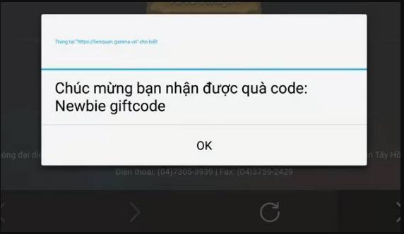 Giftcode liên quân newbie