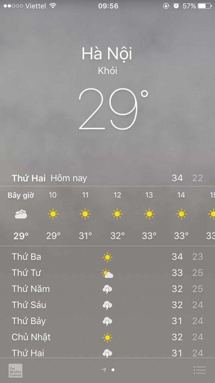 Điện thoại cảnh báo Hà Nội nhiều khói