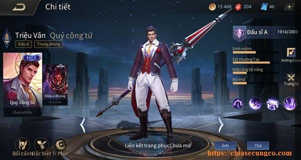 Triệu Vân late game gánh team thường thấy