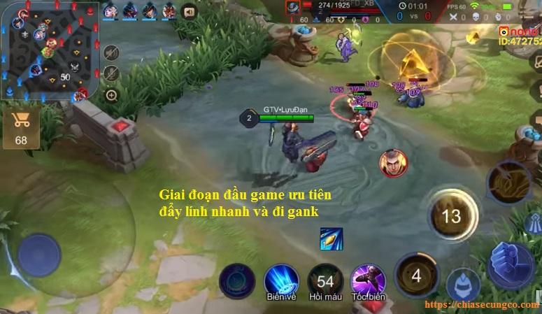 Cách chơi Dirak giai đoạn đầu game